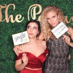 grass wall wedding photo booth picture