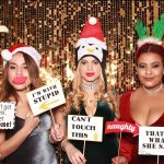Girls at Holiday Company Party Photo Booth Miami