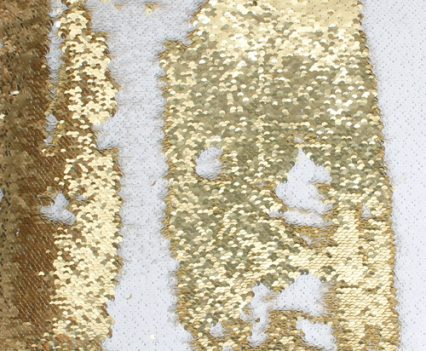 Gold & White Luxe Sequin