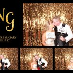 gold wedding photo booth
