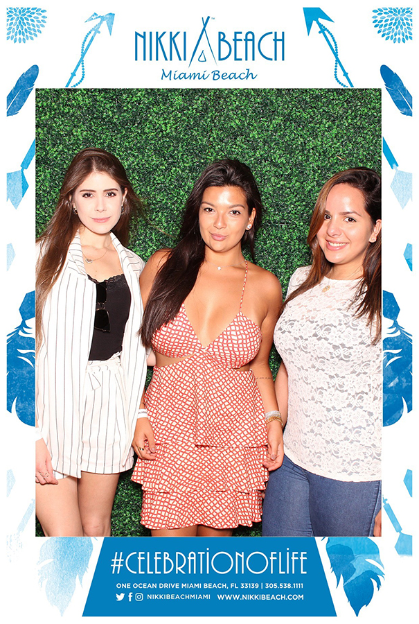 girls at Miami swim week Photo Booth