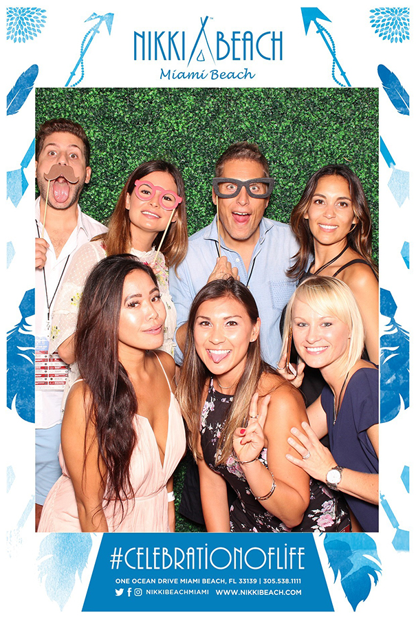 nikki beach miami photo booth print