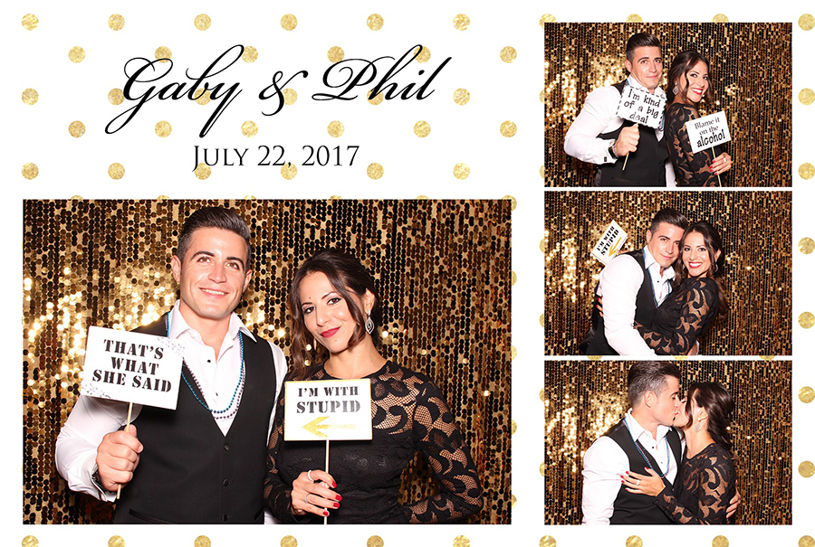 gold sparkle photo booth print