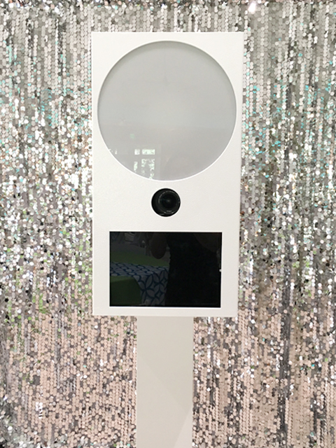 modern luxury photo booth in miami
