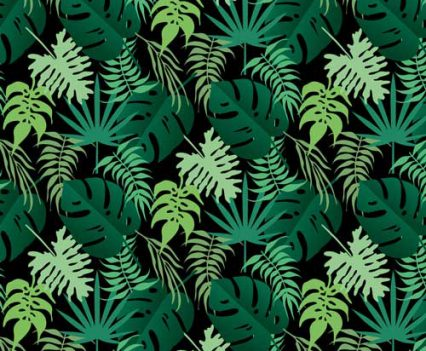 Tropical Greens Photo Booth Backdrop