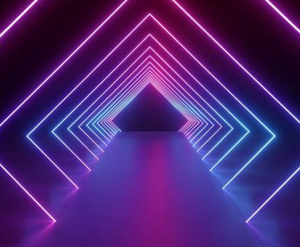 Neon Lights Photo Booth Backdrop