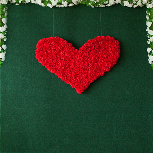 heart flower wall backdrop