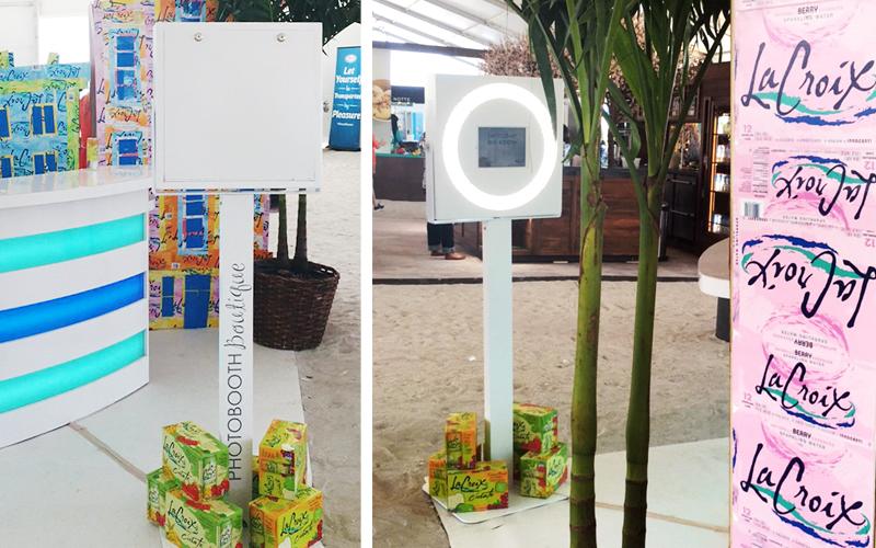 lacroix event GIF photo booth in miami