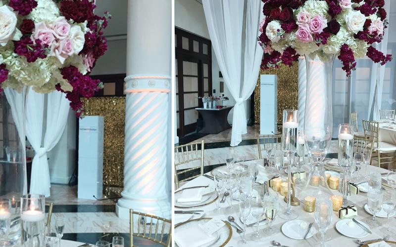 hotel colonnade wedding photo booth