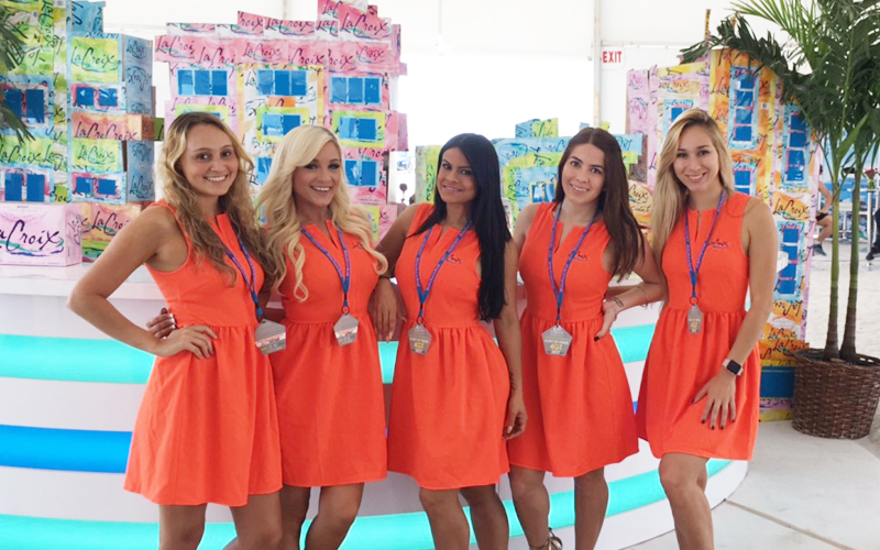 lacroix event ambassadors with photo booth boutique