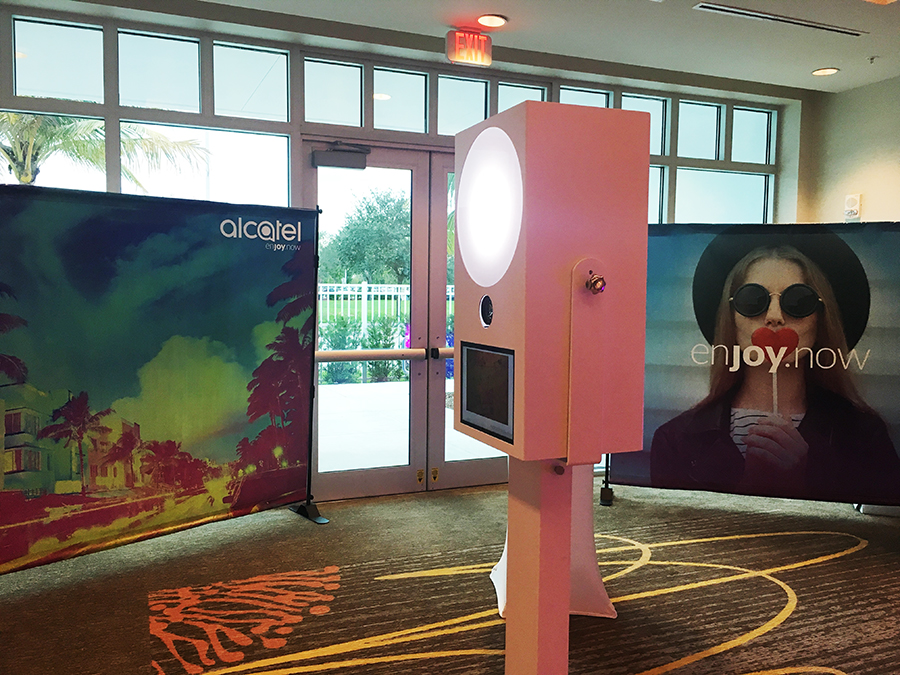 alcatel photo booth setup