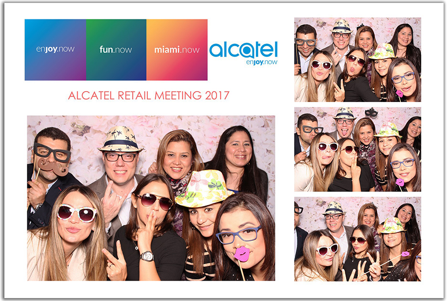 Alcatel corporate photo booth in doral
