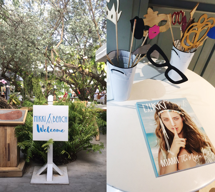 nikki beach photo booth props