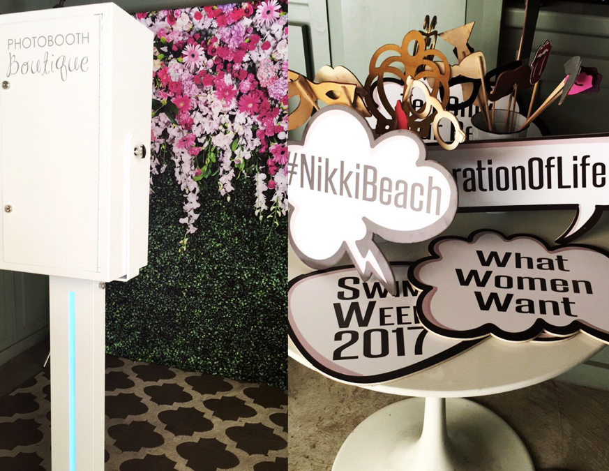 swimweek photo booth at nikki beach