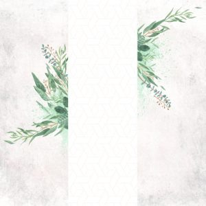 Artistic Photo Booth Backdrop with soft greens and textured background
